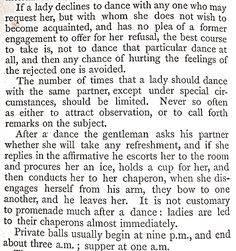 On dancing at balls,  Manners of Modern Society, 1872