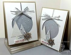 The Lady & Her Stamps: Christmas Cards Christmas Card Crafts, Homemade Christmas Cards, Christmas Cards To Make, Homemade Cards, Handmade Christmas, Holiday Cards, Christmas Decorations, Winter Cards, Creative Cards