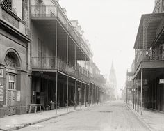 Chartres Street, New Orleans, c1906, Vintage Photo