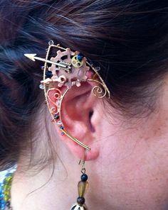 Steampunk wire Fairy Elf Ears with Arrow by StarlitSkies on Etsy, $52.00