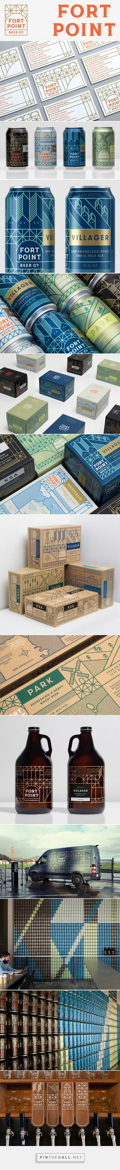 Brand New: New Logo, Identity, and Packaging for Fort Point Beer by Manual - created via https://pinthemall.net