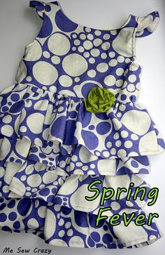 Free pattern and tut!! Love the ruffles and the back of this dress!
