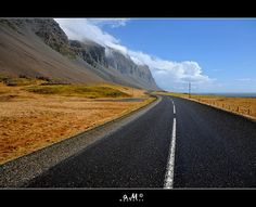 Icelandic Road by Arnaud Maupetit  http://www.flickr.com/photos/maupetit/6797799095/