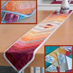 Streifen-Tischband und Stoffreste, Seminole Patchwork, Scraps, Tabletop