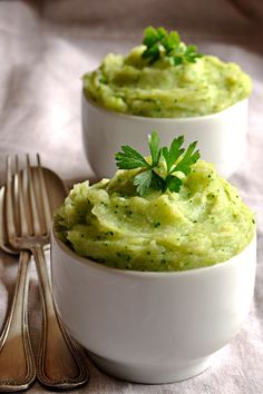 Broccoli potato puree