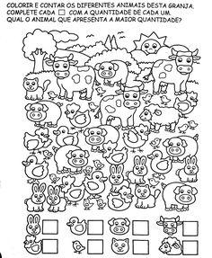 Kindergarten Math Worksheets, Worksheets For Kids, Teaching Math, Preschool Colors, Numbers Preschool, Numicon, Programming For Kids, Science Fair, Coloring Pages