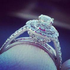 1-1/2 CT. T.W. Diamond Double Halo Bridal Set in 14K White Gold