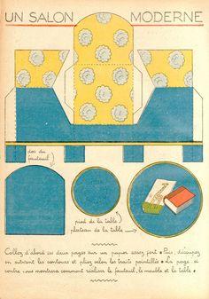 Doll's house furniture via ilfavolosomondodicartaditoto.blogspot.com/2010/06/un-salottino.html