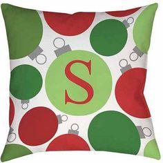 Thumbprintz Christmas Cheer Monogram Decorative Pillows