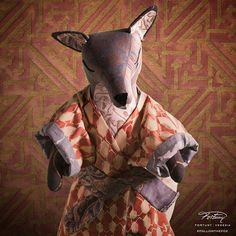 Enter Haruka, trying to look understated in her Dissolvenza kimono, which is even more glamorous before our new copper Simboli #Fortuny #Design #Fabric #Color #InteriorDesign #New #FollowTheFox