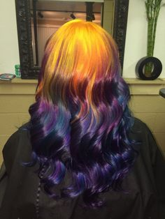 midnight fire hair by Ursula Goff on www.outrageousrainbows.com