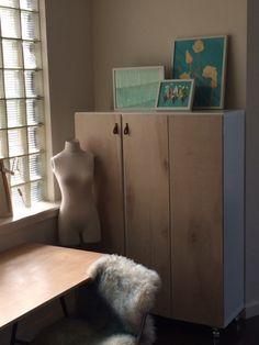 kallax craft cabinet with doors13
