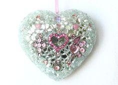 Geschenke für Frauen - Mosaik Herz Wandschmuck - ein Designerstück von LonasART bei DaWanda