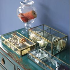 Glass Trinket Boxes - Storage - Treat Your Home - Home Accessories