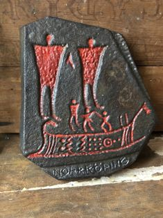 Excited to share this item from my shop: Cast iron wall hanginh Viking carving and rune symbols standing stones, representing the Plus Swedish carvings around Norrköping Rune Symbols, Runes, Swedish Vikings, Cast Iron, It Cast, Iron Art, Vintage Items, Carving, Stone