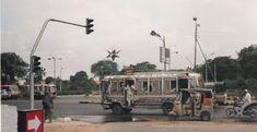 Mini Buses in Karachi, Pakistan. Clifton Beach, Zebra Crossing, Mini Bus, Transportation, Karachi Pakistan, Street View, Buses, Travel, Blog