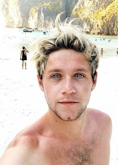 His fucking eyes match the fucking ocean that's perfect