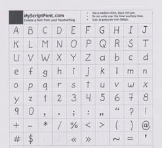 You can make your own handwriting font??