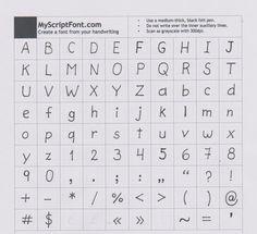 Ringomania! | Turn your handwriting into a font