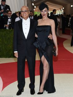 Taking her man: Liberty Ross took her new husband Jimmy Iovine as her date to the ball...