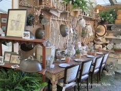 I want to go antique shopping here....want the table, the chairs, the oyster plate.....on and on