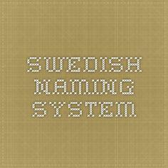 swedish naming system