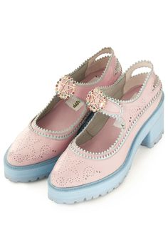 **Chunky Pink Brogues by Meadham Kirchhoff - Meadham Kirchhoff - Clothing - Topshop Europe
