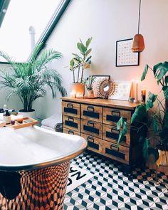 60 Best and Bright Boho Bathroom Ideas Bad Inspiration, Bathroom Inspiration, Bathroom Ideas, Bathroom Goals, Family Bathroom, Bathroom Styling, Bathroom Designs, Master Bathroom, Bohemian Bathroom