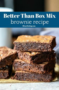 Easy brownie recipe that makes brownies that are better than box mix brownies!