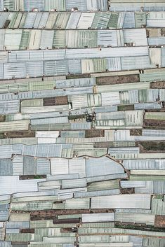 Areal view of Mar del Plastico, Spain, by German photographer Bernhard Lang