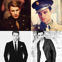 Steve Rogers/Chris Evans and Bucky Barnes/Sebastian Stan...well..I WAS feeling fine....