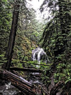 Waterfall hike in Moran State Park on Orcas Island