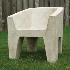 Van Eyke Chair: Zachary Bitner: Concrete & Fiberglass Chair - Artful Home #flashgallery