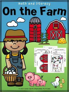 the Farm Math and Literacy Activities Printable farm math and literacy activities for preschool, prek, and kindergarten.Printable farm math and literacy activities for preschool, prek, and kindergarten. Pre K Activities, Animal Activities, Language Activities, Therapy Activities, Welcome To Preschool, Preschool Activities, Preschool Printables, Kindergarten Worksheets, Farm Unit