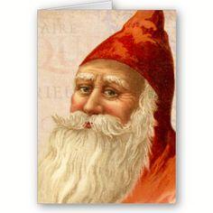 Kind Faced Vintage Santa Christmas Cards