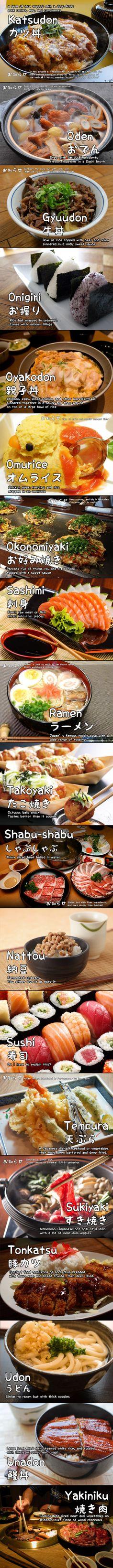 Popular Japanese Food 101