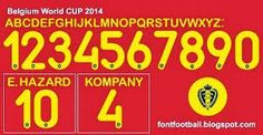 world cup fonts - Buscar con Google Football Fonts, Football Team, World Cup, Google, Numbers, Lakes, Football Soccer, Football Equipment, Football Squads