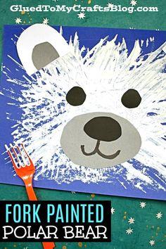 Bear Crafts Preschool, Animal Crafts For Kids, Kindergarten Crafts, Winter Crafts For Kids, Winter Art Projects, Polar Bear Crafts, Winter Crafts For Preschoolers, Winter Preschool Activities, Polo Norte