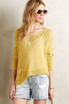 Sparrow Ribbed Linen Pullover #anthrofave
