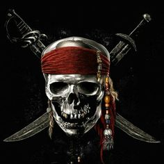 Disney is planning to shoot Pirates of the Caribbean 5 & 6 back-to-back. Pirates of the Caribbean: On Stranger Tides stars Johnny Depp. Captain Jack Sparrow, Atelier Disney, Dark Fantasy, Images Pirates, On Stranger Tides, Pirate Tattoo, Fantasy Kunst, Best Movie Posters, Pirate Skull