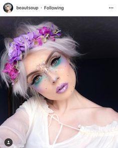Fairy Make-up, Fairy Fantasy Makeup, Fantasy Make Up, Fantasy Hair, Elf Makeup, Makeup Art, Beauty Makeup, Makeup Ideas, Fairy Costume Makeup