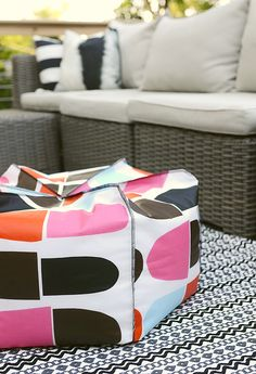 diy bean bag pouf  by Nalle's House - Sewtorial