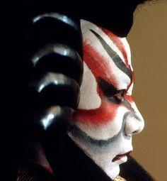 Kabuki makeup,teatro japones antiguo