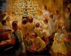 Festa de Natal, 1943 Georgina de Albuquerque (Brasil, 1885-1962) óleo sobre tela