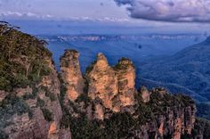 The Three Sisters in the Blue Mountains New South Wales Australia
