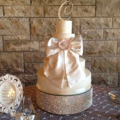 Gold Swarovski cake
