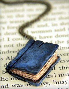 Beloved Dark Blue Book Necklace jewelry by NeverlandJewelry, $25.00