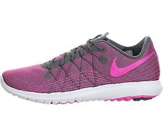 buy online ec107 a078e Nike Women s Flex Fury 2 Dark Grey Pink Blast White Running Shoe Women US     Read more