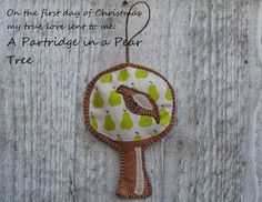 Custom Golf headcovers and puppets : On the first day of Christmas - A Partridge in a Pear tree