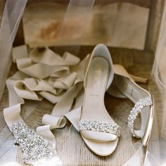 Elegant heels for wedding. Photo by Caroline Yoon Fine Art Photography
